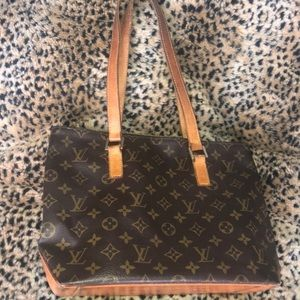 Auth Louis Vuitton Cabas Piano Monogram Tote Med.